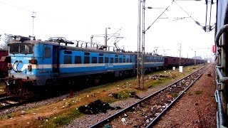 10000 HP OF POWER WAG7 TWINS AT BILASPUR JUNCTION