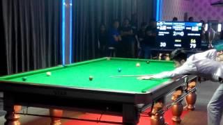Lee Kok Leong 81 break - 3rd frame. Semi final