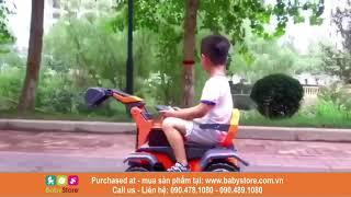 Cần cẩu, máy xúc điện trẻ em S4 (Model mới nhất, BH 1 năm)