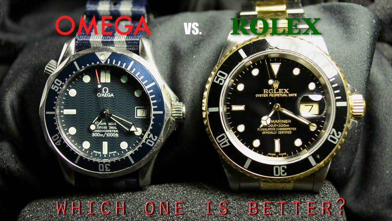Rolex submariner vs omega seamaster which one is better youtube for Watches better than rolex