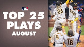 Top 25 MLB Plays of The Month (August) | Slam Diego, Mookie Betts and more! (MLB Highlights)