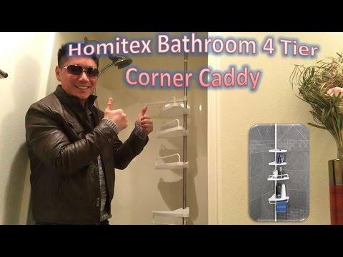 Homitex Bathroom 4 Tier Corner Caddy Review