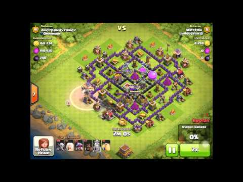 Clash Of Clans TH8 Farming Base Review