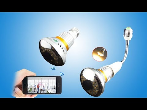 WISEUP High Tech Wireless LED Light Bulbs Spy Camera with Smartphone Remote Monitor functioon