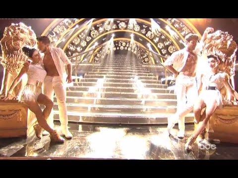 "DWTS Season 18 WEEK 8  :  Meryl Davis & Maks AND Danica McKellar & Val - Samba ""5-5-14"" (HD)"
