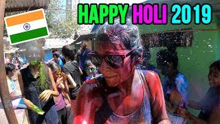 Foreigners playing HOLI 2019 with AMAZING INDIAN PEOPLE