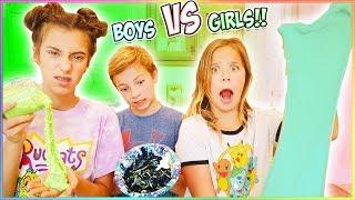Boys VS Girls!! 5 DOLLAR SLIME CHALLENGE!!