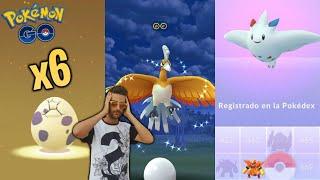 CAPTURO HO-OH SHINY !! EVOLUCIÓN de TOGEKISS & ABRIENDO HUEVOS 10km !! - Pokemon Go