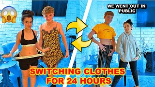 Switching Clothes With My Boyfriend For 24 Hours *IN PUBLIC*