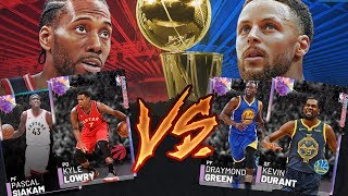 2019 NBA FINALS CHALLENGE!! NBA 2K19 MYTEAM WARRIORS RAPTORS SUPER TEAM!!