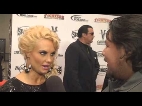 Coco Austin on Red Carpet of MMA Awards in Vegas