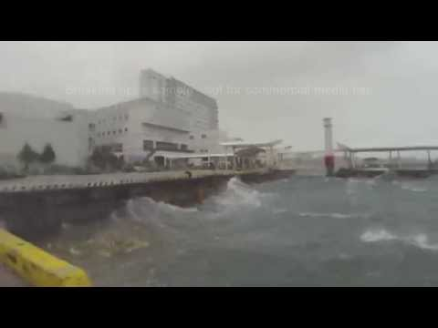 Typhoon Neoguri Lashes Miyakojima, Okinawa Japan 台風第8号