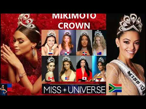 Miss Universe Winners that Have Worn the Mikimoto Crown