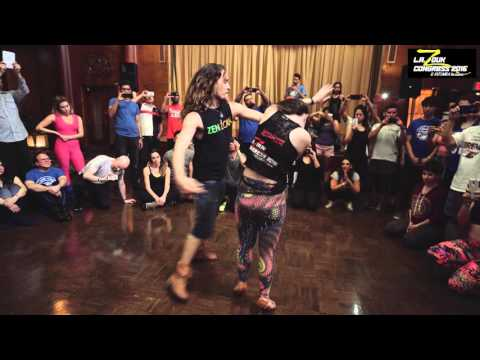 Ry'El + Jessica the Unicorn w/ Braz - LA Zouk Congress 2016 - Friday - Demo