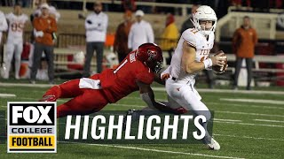 Texas vs. Texas Tech | FOX COLLEGE FOOTBALL HIGHLIGHTS