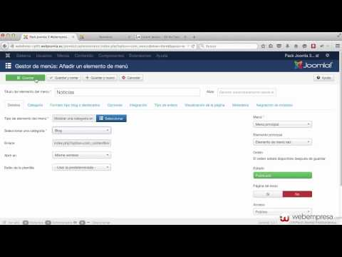 Construcción sitio web Joomla 3 con Pack Webempresa desde cero - 2