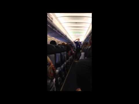 Spirit Airlines Funny Flight Attendant Safety Demo