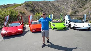 Lamborghini Aventador vs. Murcielago vs. Diablo vs. Countach Head To Head Review!