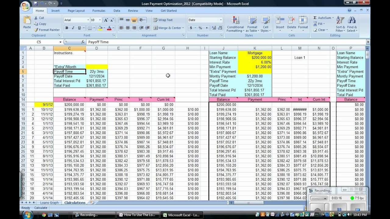 excel pay bill