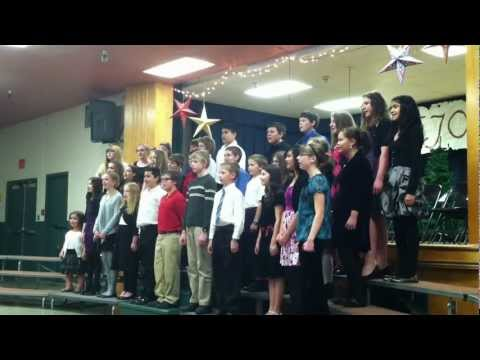 Holy Cross school choir singing 'in excelsis Deo' 2011 Christmas concert