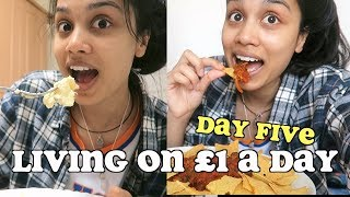 living on £1 a day for a week - DAY FIVE   clickfortaz