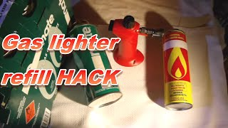 cheaper gas refill for butane lighters & torches