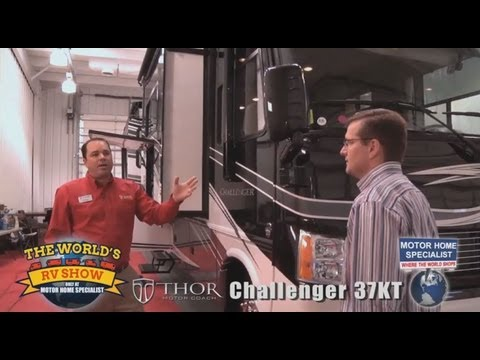 Motorhome Specialist Reviews of Thor Motor Coach Challenger Luxury RV at The World's RV Show