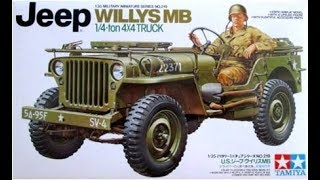 How to Build the Willys MB Jeep 1:35 Scale Tamiya Model Kit #35219 Review
