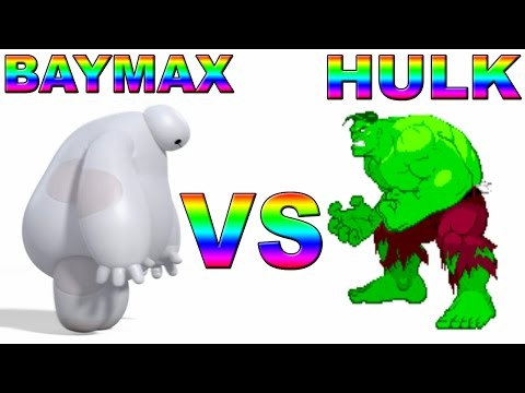 Hulk VS Baymax(Big Hero 6 parody)