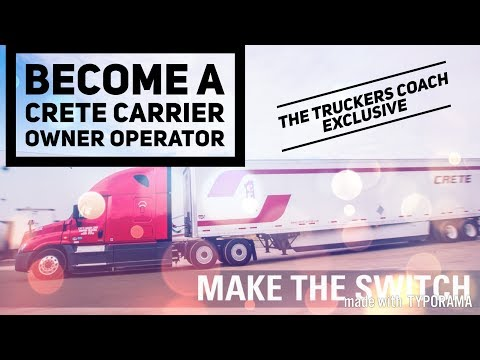 How to become a Crete Carrier Owner Operator The full process