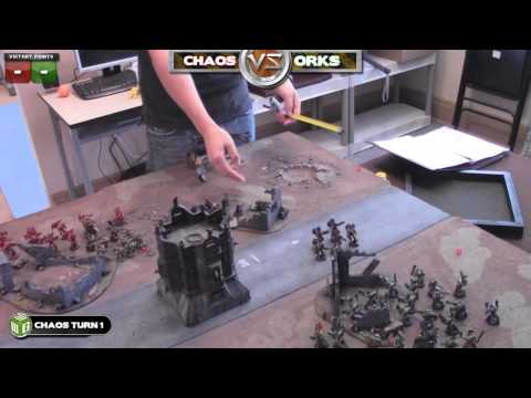 0 Chaos Vs Orks Warhammer 40k Battle Report   Banter Batrep Ep 2   Part 1/6