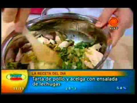La receta del día tarta de pollo y acelga con ensalada de lechugas pt3 20110112.3gp