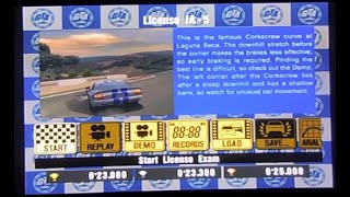 Gran Turismo 3 - How To View The Hidden License Test Demos