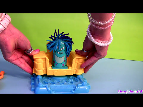 Play Doh Monsters University Scare Chair Barber Shop Pixar Disneyplaydoh La Peluquería de Monstruos