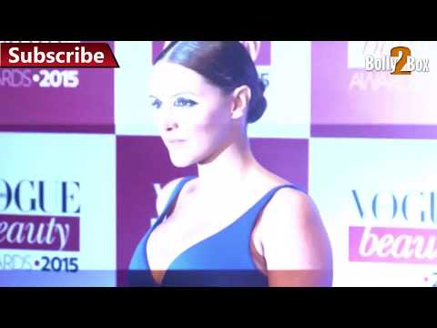 Neha Dhupia Hot at Vogue Beauty Awards 2015