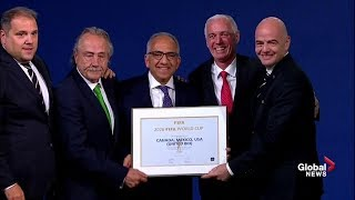 Canada, U.S., and Mexico bid selected as 2026 FIFA World Cup host