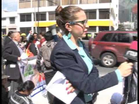 FEUNASSC se movilizó en rechazo al presunto cierre de dispensarios médicos