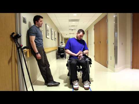 Hospital tests device to help paraplegics walk