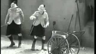 Laurel and Hardy Dancing and Cleaning by Tosca Busenfreund