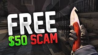 """FREE $50 SCAM"" (NEW CS:GO SCAM)"