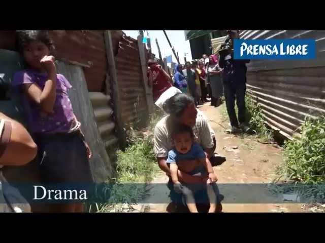 Escenas del desalojo en asentamiento