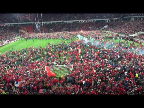 Spartak Moscow fans on the field