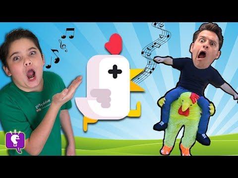 Let's Play 'Chicken Scream'! Video Game App with HobbyKidsTV