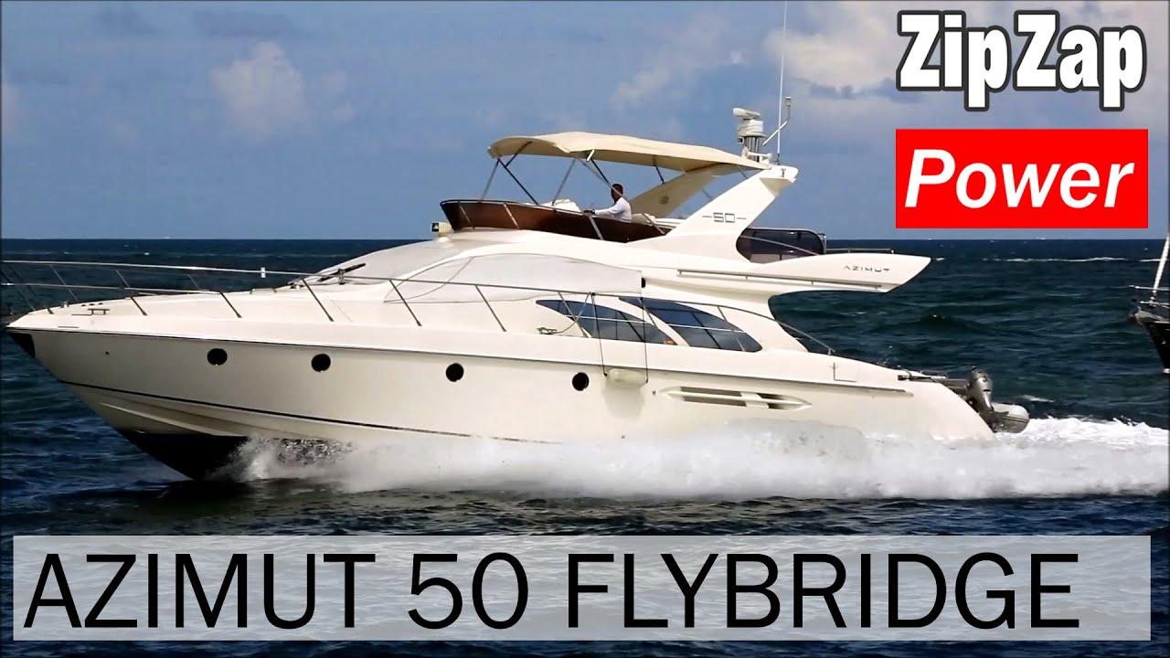 azimut 50 flybridge on the move