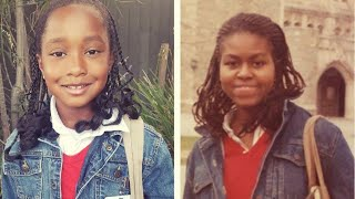 8-Year-Old Dresses Like ?80s Michelle Obama for School Project