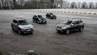 2018 Dacia Duster vs 2018 Citroen C3 Aircross vs 2018 Renault Captur vs 2018 Peugeot 2008
