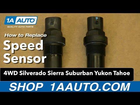 How To Install Speed Sensor 4WD Silverado Sierra Suburban Yukon Tahoe