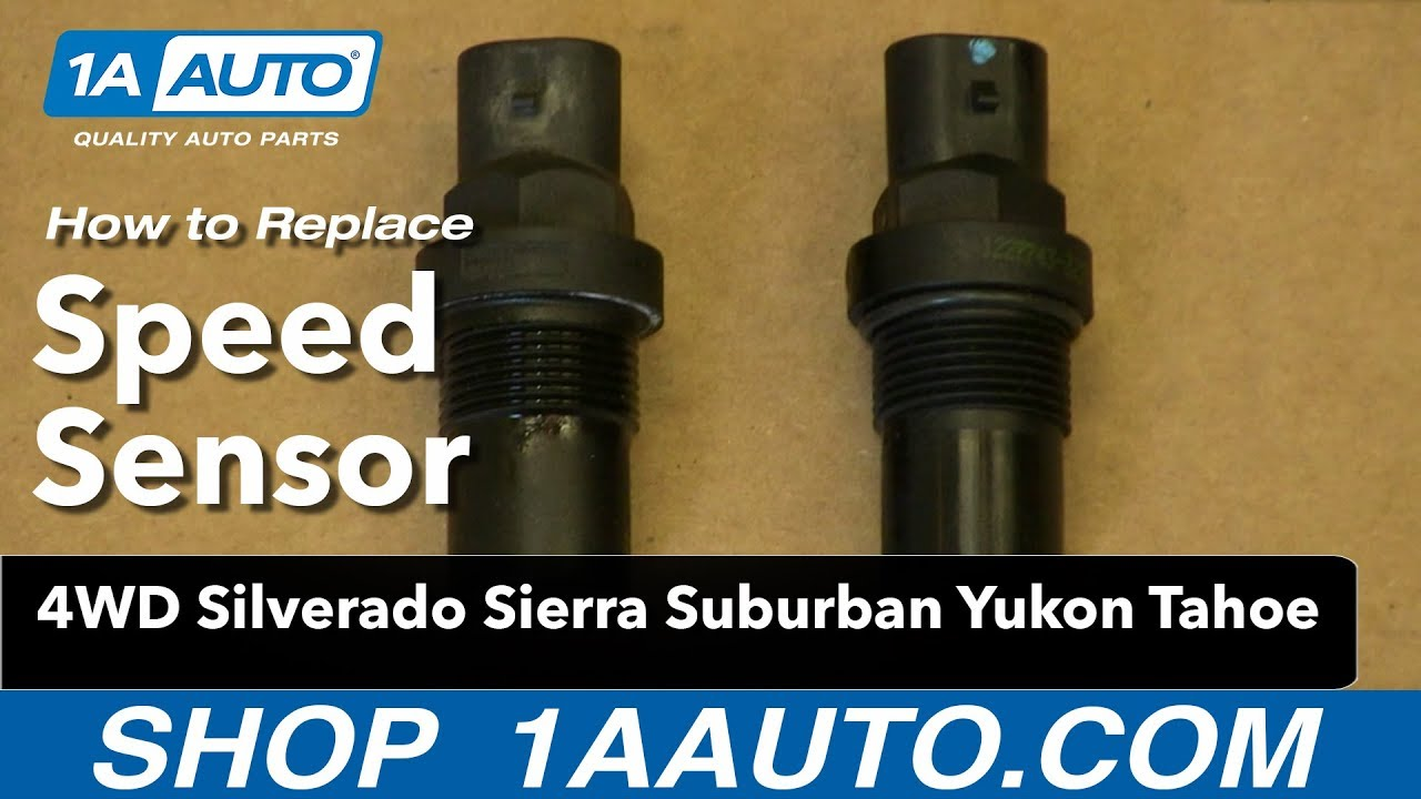 How to install speed sensor 4wd silverado sierra suburban yukon tahoe youtube