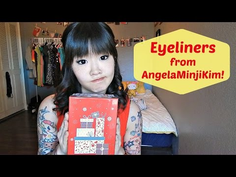 Favorite Eyeliners! Collab with AngelaMinjiKim!   HelloHannahCho
