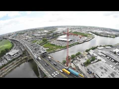 Brooklyn New York City, Kosciusko bridge, DJI Phantom 2 Drone Quadcopter